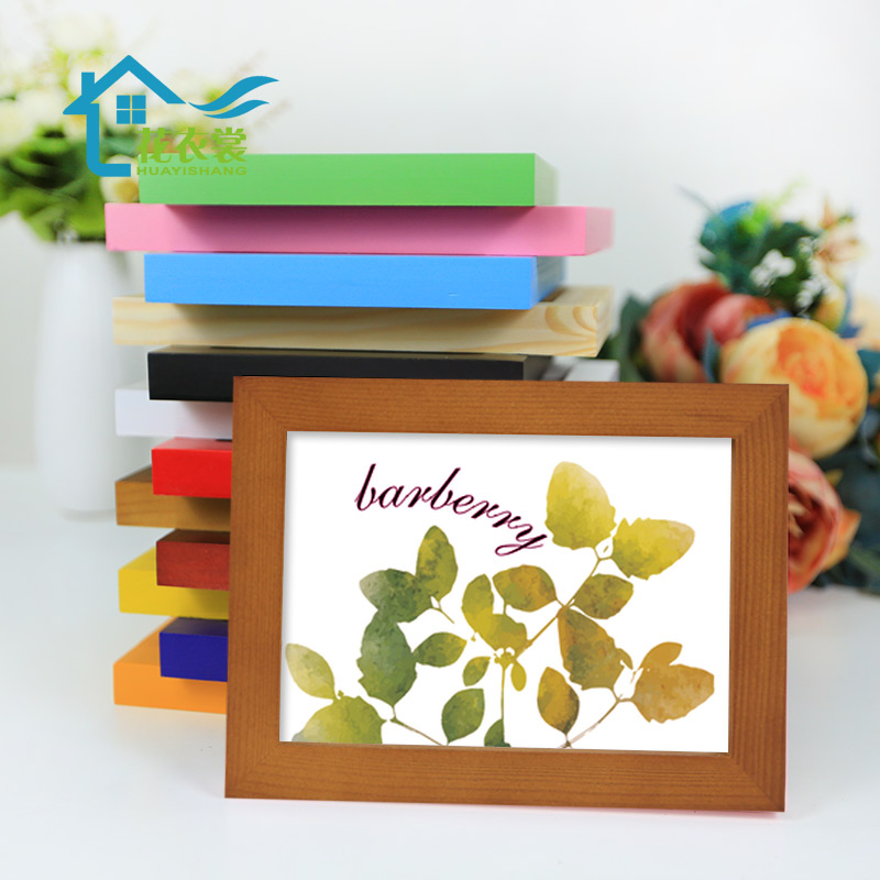 实木挂墙相框摆台7寸5 6 8 10 11 12 16A4创意相片架儿童装裱画框