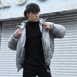 BLUESFLY original warm thickened lightweight sports cotton clothing windproof handsome hooded loose jacket autumn and winter men