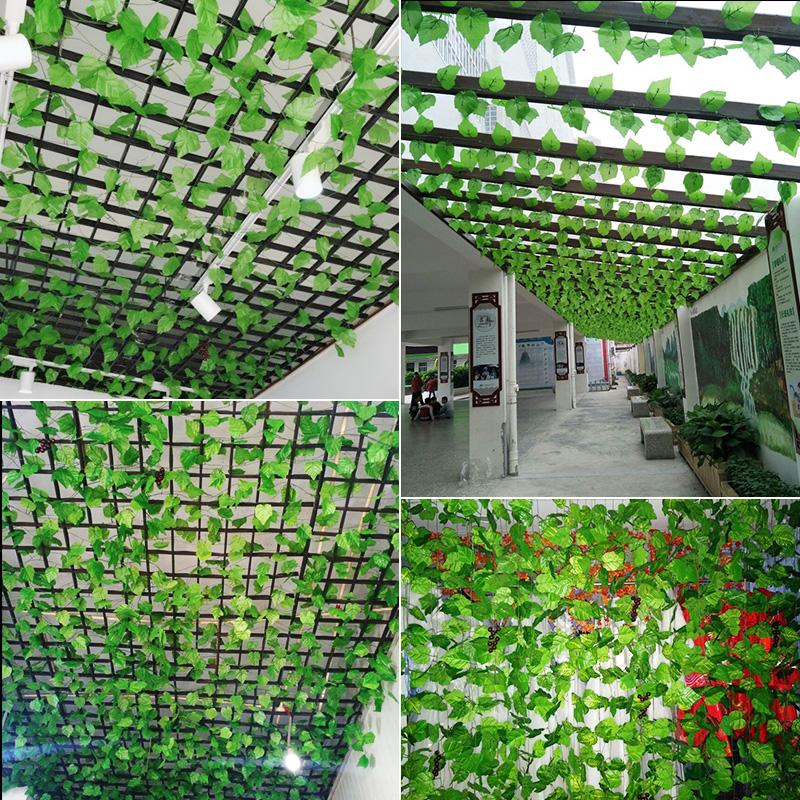 仿真树叶藤条花藤假花藤蔓葡萄绿叶绿植植物塑料管道缠绕吊顶装饰