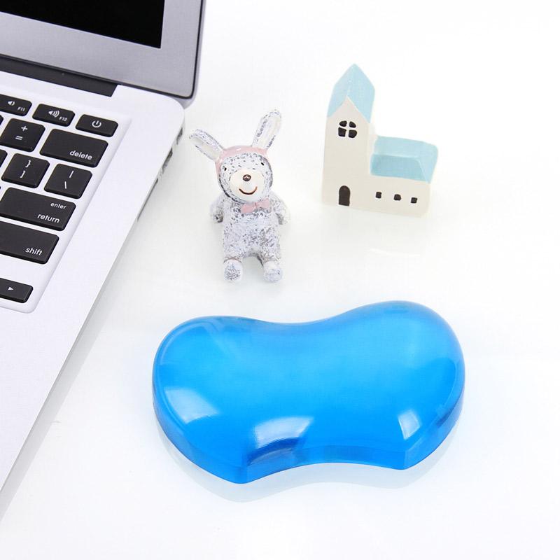 ECOLA/宜客萊水晶矽膠護腕託滑鼠墊遊戲人體工學辦公膝上型電腦