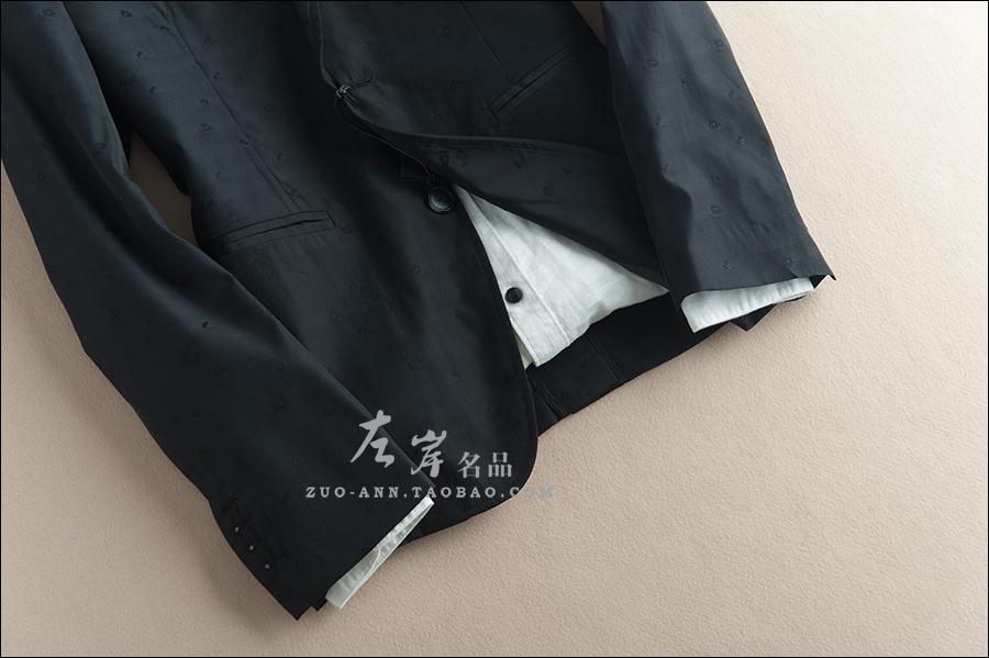 高端控の必收 绝美提花工艺 时髦腔调 修身干练两粒扣西服外套男