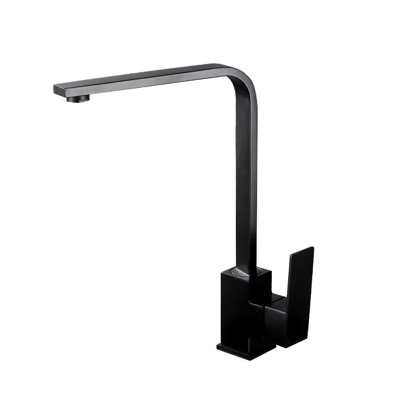 不锈钢厨房黑色纳米烤漆洗菜盆水槽冷热龙头吧台阳台水龙头 304