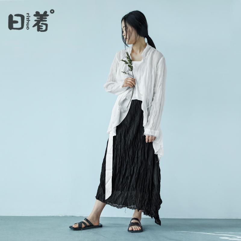 优雅的西装式防晒衫