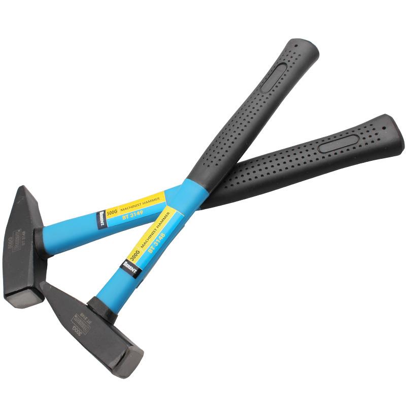 百锐 500g德式钳工锤钳工锤安全破窗逃生锤子榔头鸭嘴扁锤铁榔头