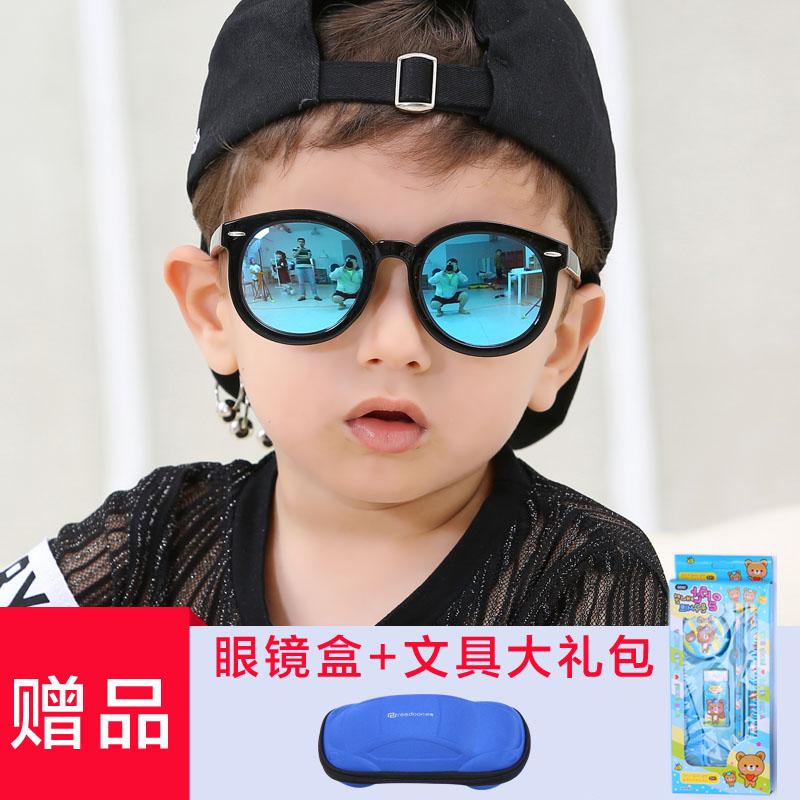 儿童太阳镜大圆框男童小孩子女童墨镜时尚亲子女士宝宝偏光眼镜潮