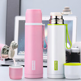 Baokang insulation cup female 304 stainless steel cup male simple portable large capacity student bottle children cute cup