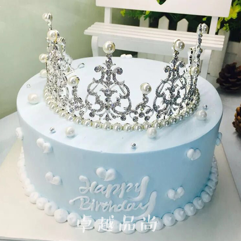 Awesome Simulation Cake Model Crown Queen Birthday Cake Model Pearl Funny Birthday Cards Online Inifofree Goldxyz
