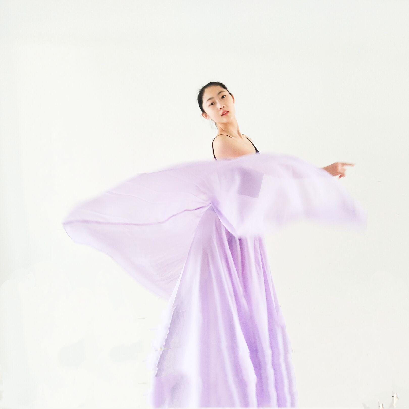 舞蹈表演服装中国风一片式长裙拍照裙芭蕾舞练习裙古典舞裙大摆主图