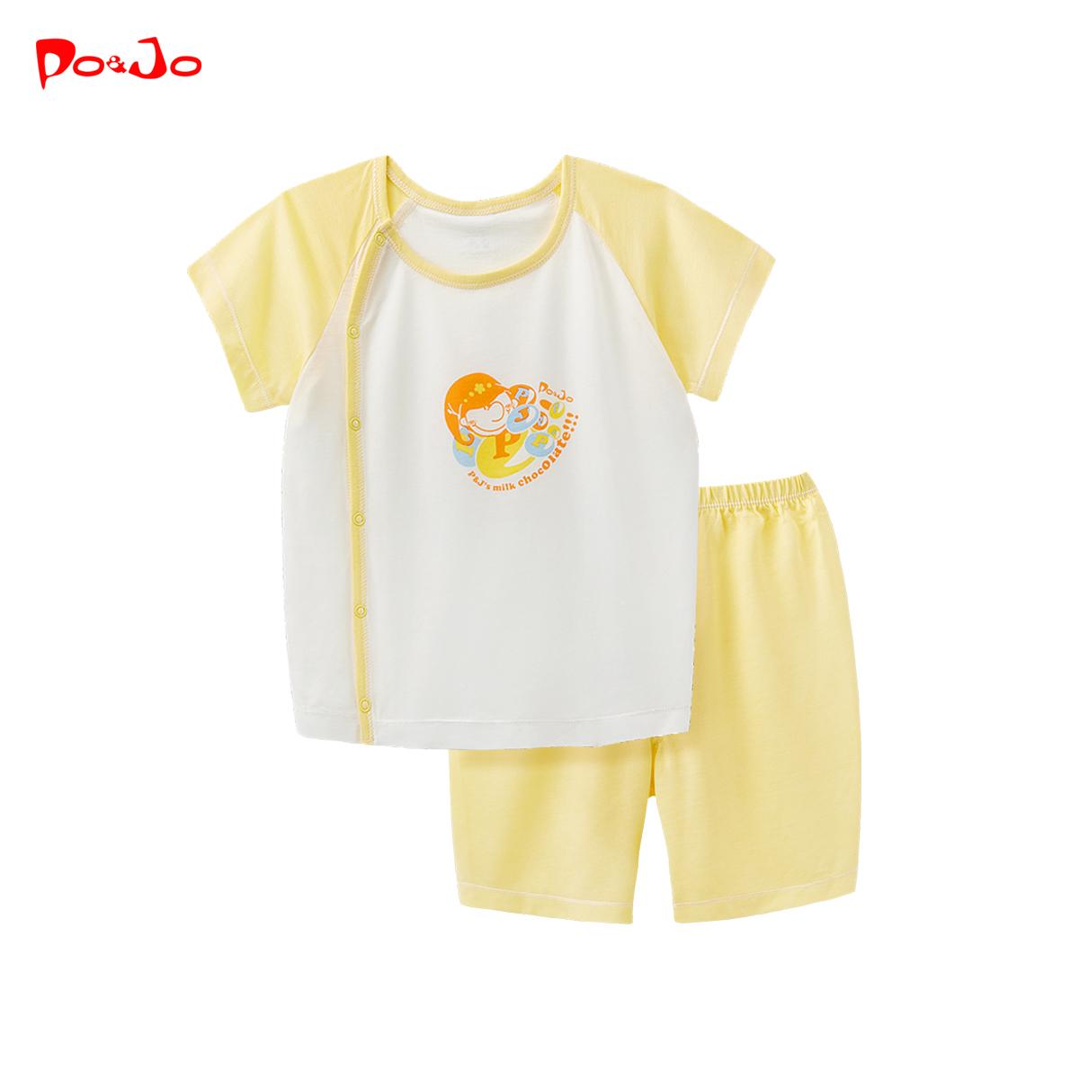 皮偌喬短袖套裝0夏季男童女童裝1嬰兒童衣服2寶寶夏裝短褲3歲夏款