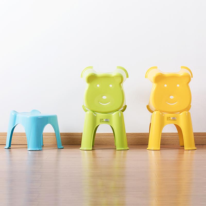 茶花凳儿童塑料凳子时尚创意加厚型可爱卡通宝宝小矮板凳无靠背凳