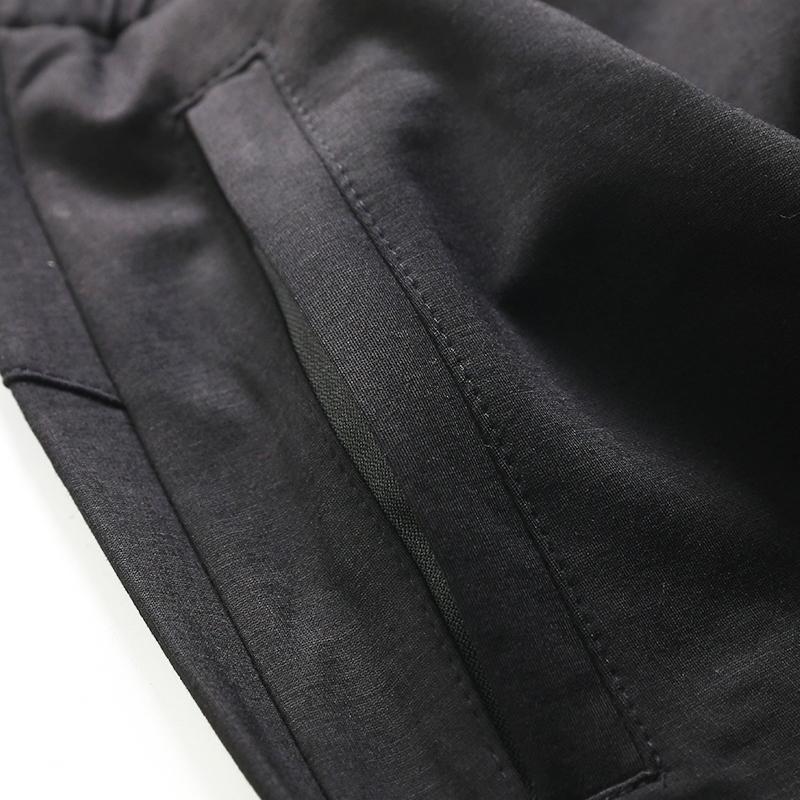 春秋男款休闲裤单侧腿图案束脚长裤抽绳修身运动裤加大码裤子