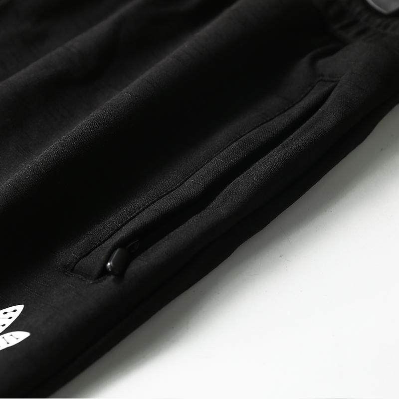 百搭修身长裤春秋款男士透气运动裤抽绳系带小腿束脚休闲裤L-7XL