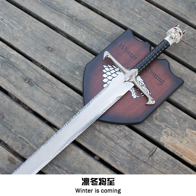权力的游戏长爪剑生活大爆炸冰与火之歌冰原狼剑琼恩雪诺未开刃