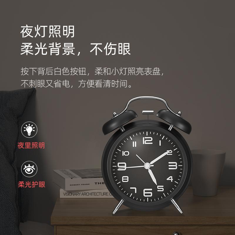 超大声音闹铃小闹钟床头夜光学生用儿童静音创意时钟个性卧室钟表