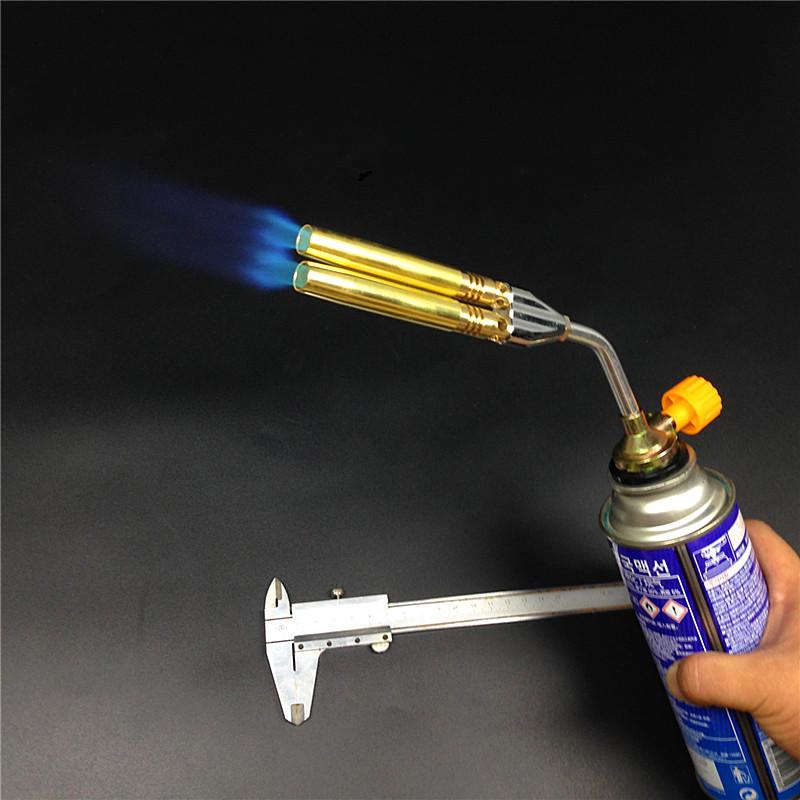 喷头 喷枪双管全铜喷嘴 空调焊接专用 卡式喷头烘焙喷枪点碳维修