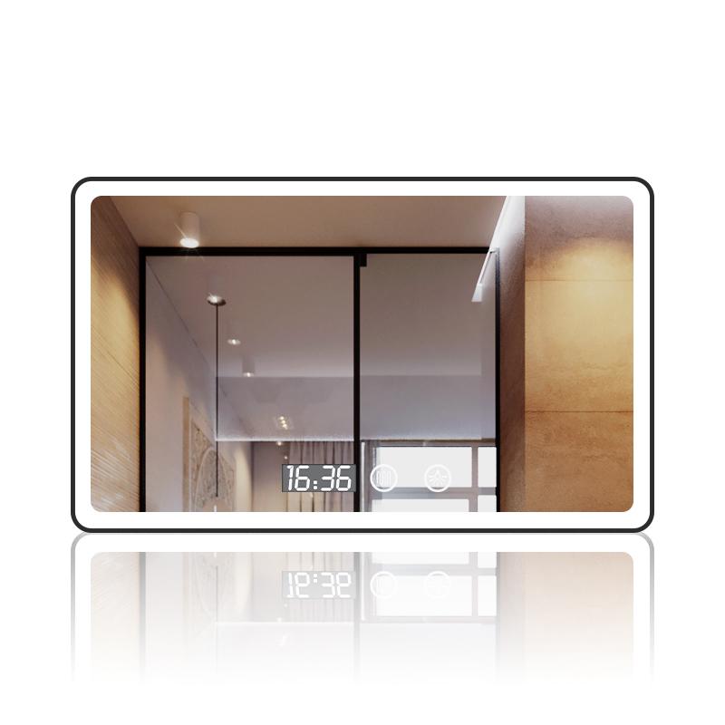 浴室镜防雾触摸屏智能镜卫生间化妆带灯发光镜子挂墙灯镜 led 壁挂