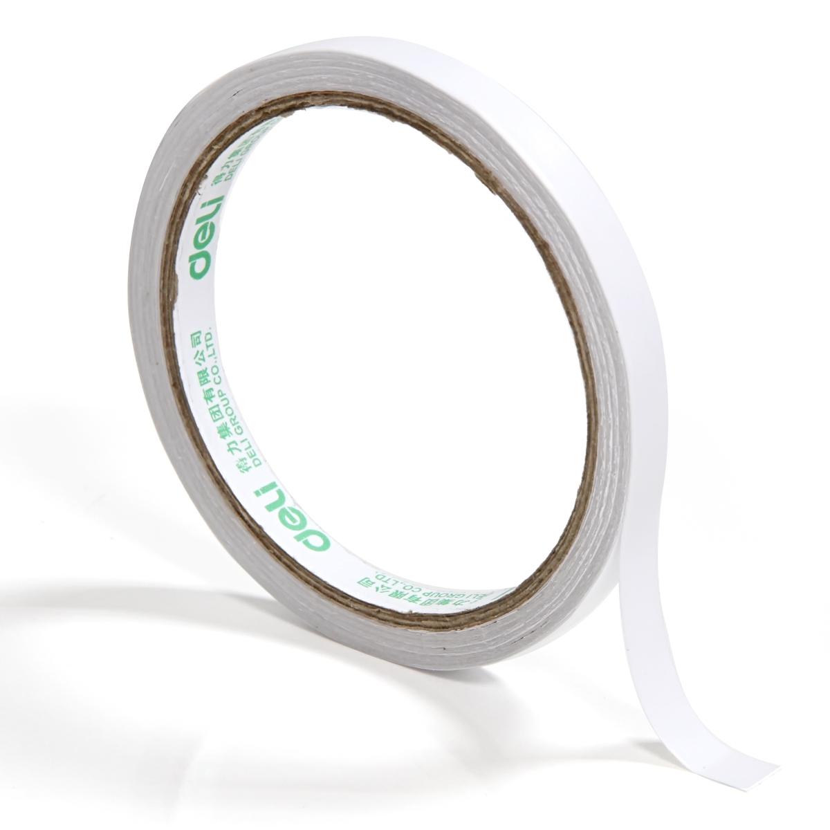 得力(Deli) 得力双面胶 两面胶棉纸胶 30400 背宽0.9cm*10Y胶带