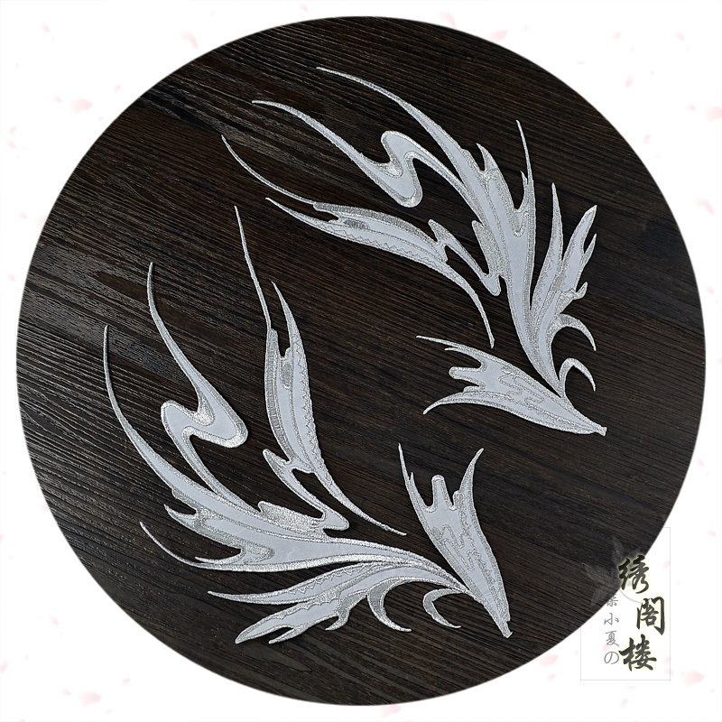 大號繡花葉片刺繡布貼COS遊戲服裝裝飾輔料DIY舞蹈戲曲民族風貼花
