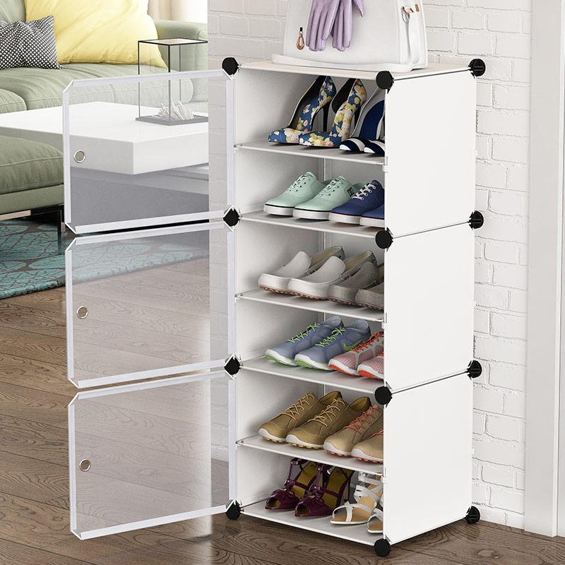 鞋柜簡易家用門口經濟型宿舍大學生防塵鞋架子省空間小窄收納神器