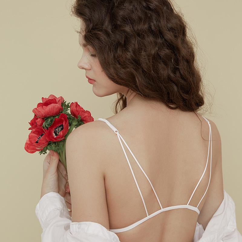 190456A 歌瑞尔甜美姓感前扣美背内衣三角杯薄款无钢圈少女文胸罩