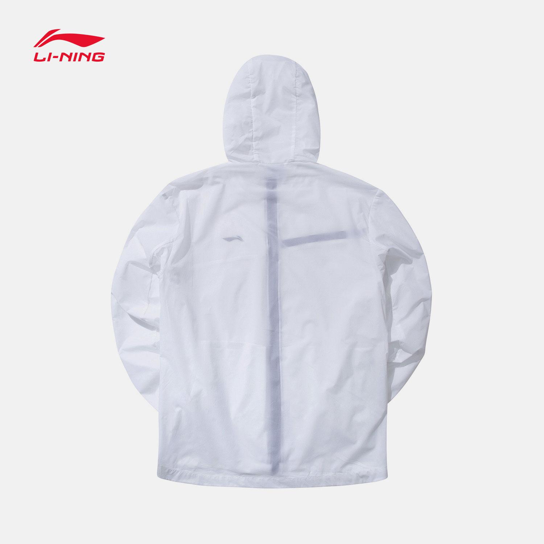 新款训练系列夏季白色连帽修身跑步休闲账动服 2019 李宁风衣男士