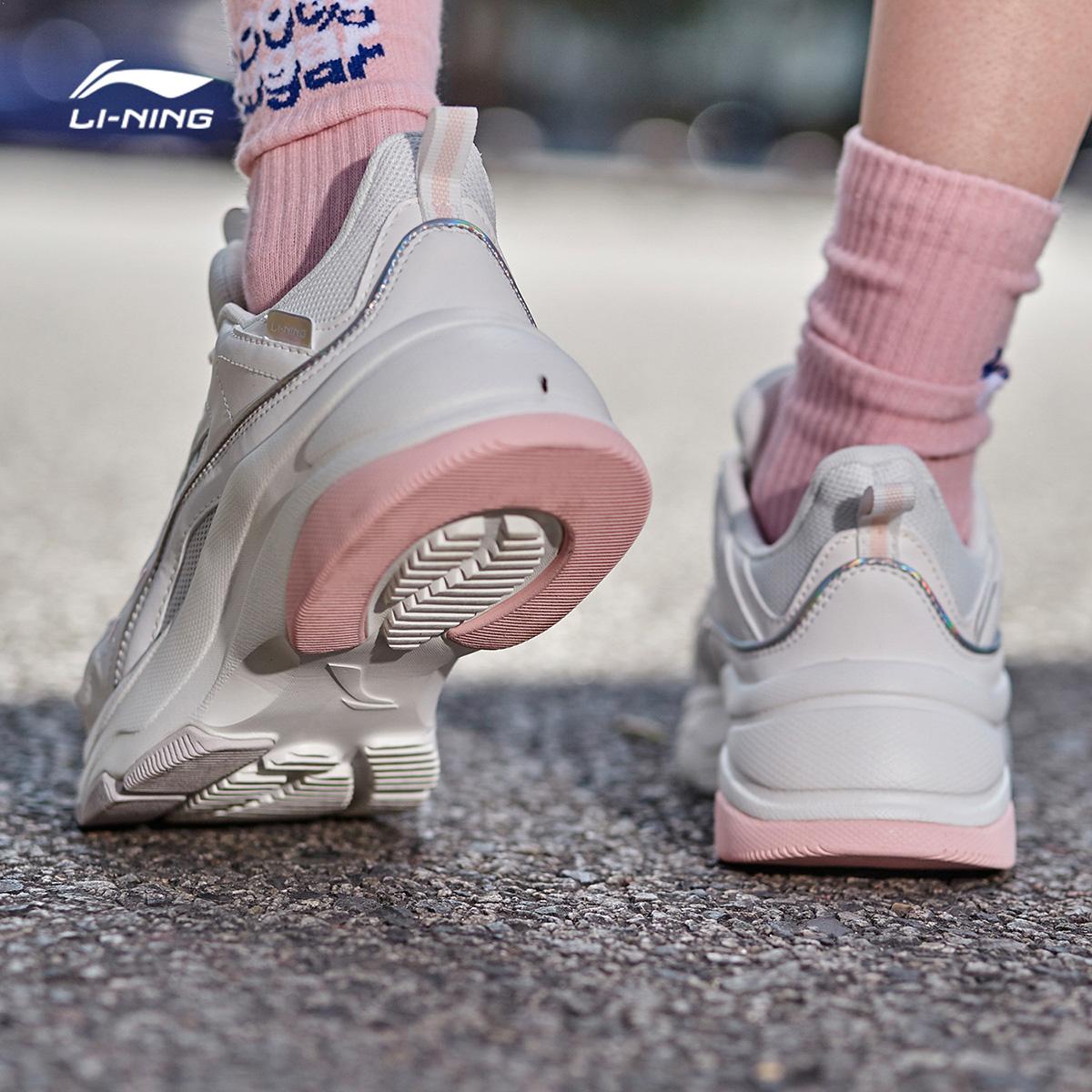 李宁休闲鞋女鞋2020夏季新款老爹鞋官方正品运动鞋复古增高鞋子