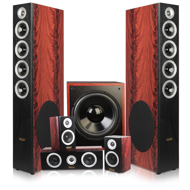 落地音箱 HIFI 家庭影院音响套装 5.1 红木纹 109 YH 英瀚 YOHONG 促销