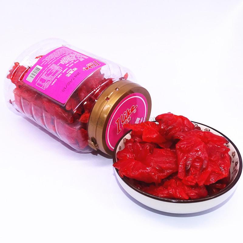 罐装零食洛神花脯玫瑰果肉蜜饯果干 180g 正品香港进口爱莱客玫瑰花