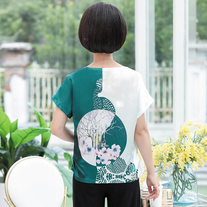 中年媽媽裝夏裝2019新款兩件套裝洋氣質高貴闊太太上衣中老年女裝