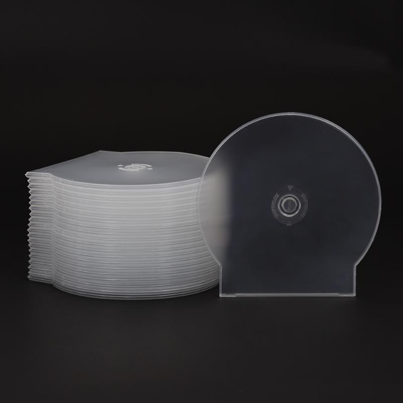 20克加厚型 光盘盒 DVD半圆CD盒子CD壳光碟盒 扇形光盘壳 50个/包