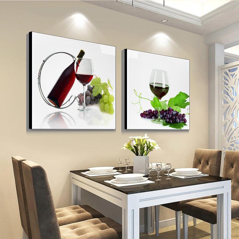 壁畫單幅飯廳墻壁裝飾 現代簡約飯廳掛畫餐廳墻面裝飾 餐廳裝飾畫