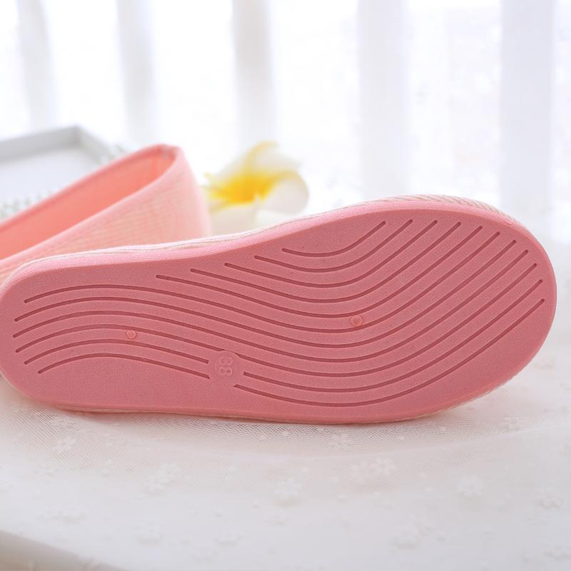 月子鞋春秋产后透气孕产妇拖鞋室内厚底防滑软底孕妇鞋夏棉布包跟