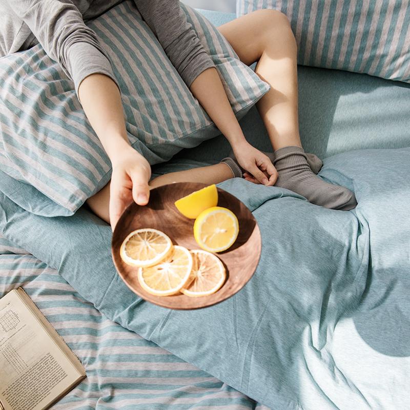 条纹被套床单床笠床品