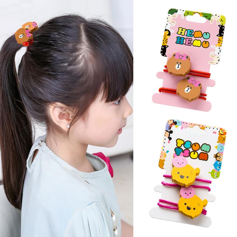 韩国卡通动物儿童扎发发绳女童发圈头绳可爱橡皮筋女孩创意头饰品