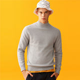 Giordano sweater spring men's combed cotton semi-high collar pullover boys sweater outside wear 01059880