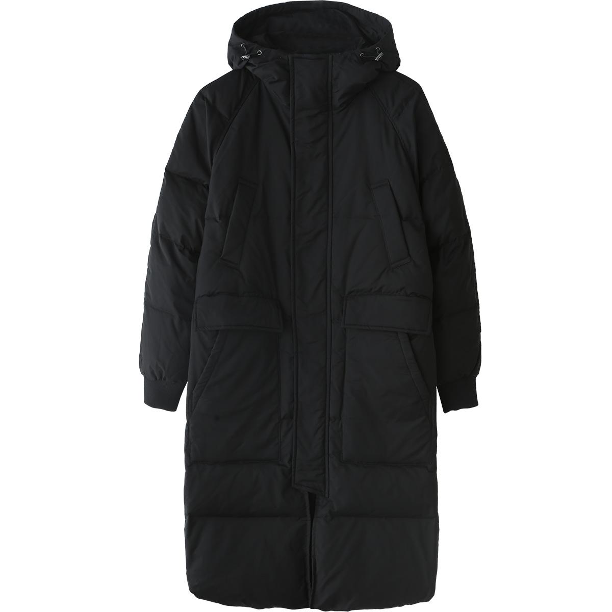 马克华菲羽绒服男潮长款 冬款ins韩版潮流连帽男士加厚保暖外套