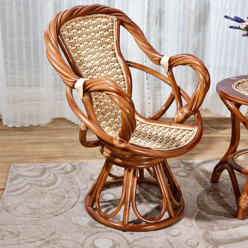 真藤椅三件套五件套休闲椅腾椅子茶几藤编阳台桌椅组合单人靠背椅