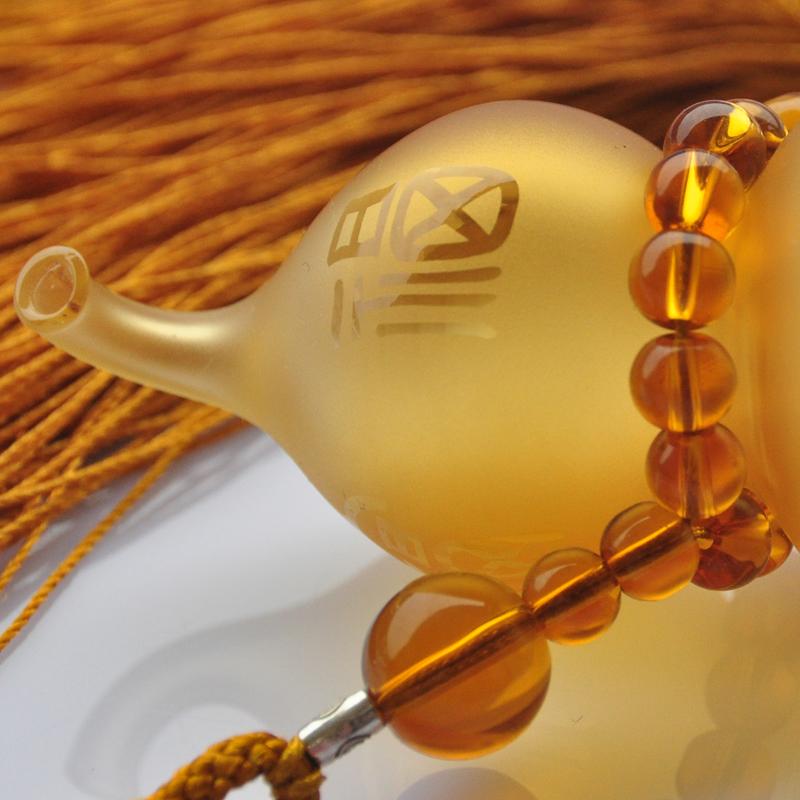汽车挂件香水葫芦 琉璃貔貅饰品车内保平安符开光 车用后视镜挂饰