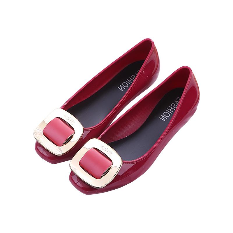 厨房果冻浅口雨鞋雨靴防水鞋防滑塑料胶鞋大人韩国低帮时尚平底女