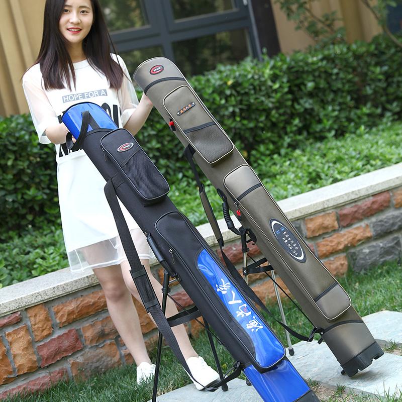 鱼竿包1.25米硬壳渔具包1.2米鱼具包鱼包海杆包钓竿包防水钓鱼包