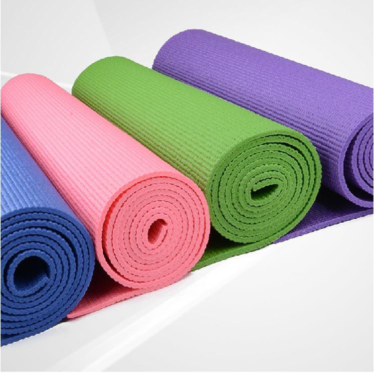 力士盟 pvc瑜珈墊4mm6mm防滑瑜伽毯瑜伽墊子瑜珈毯帶背袋