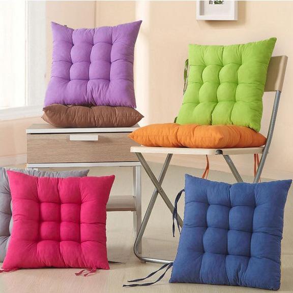 椅子記憶棉小坐墊家用餐椅軟墊凳子方坐椅墊冬季藤椅辦公座椅靠墊