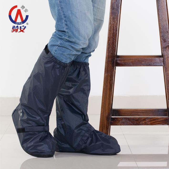 騎安 加厚男女款 平跟鞋套 高幫長筒防雨防水鞋套防水 防雨鞋