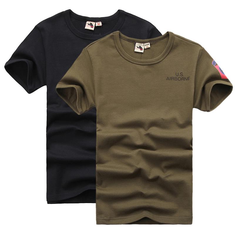 自由骑士军迷空降师战术T恤男紧身军迷服饰弹力修身短袖打底衫