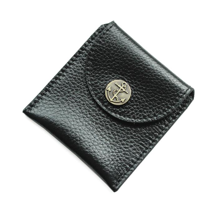 頭層牛皮真皮耳機耳線收納包袋保護包摁釦小巧英倫雜物零錢袋