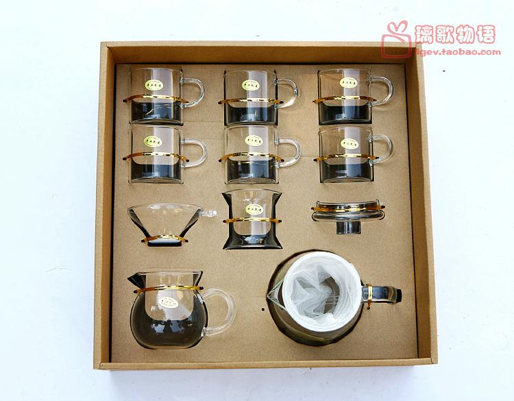 包郵禮品茶具花草茶具套裝耐熱玻璃茶具套組整套茶壺功夫茶具禮盒