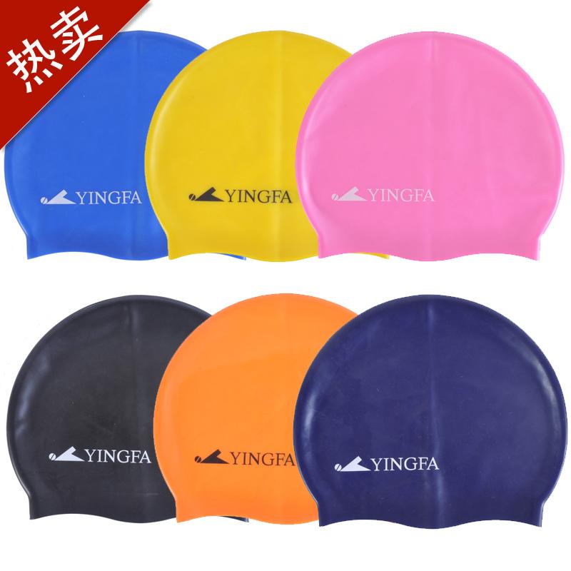 英發正品 純色矽膠 防水 長髮 男女通用 學生優質游泳帽 多色