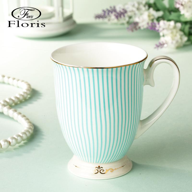 floris 英式陶瓷杯子馬克杯咖啡杯骨瓷水杯時尚茶杯辦公杯創意盃