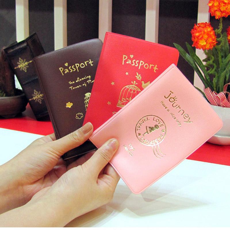 韓國簡約氣質PU旅行護照夾/護照包 創意美觀旅行用品護照套 三色