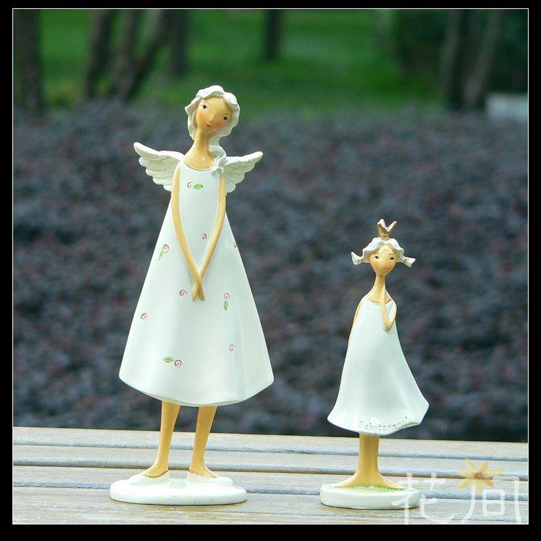 特價促銷 田園家居飾品裝飾品 工藝擺設 美麗守護天使 母女天使